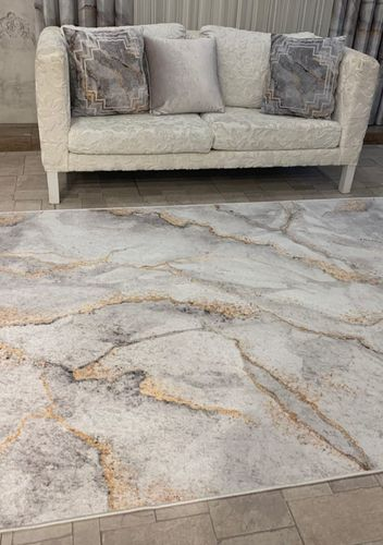 Light Gray Gold Marble